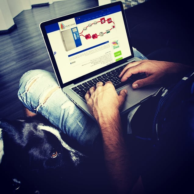 طراحی سایت فارسی انگلیسی شرکت پیشرو صنعت
